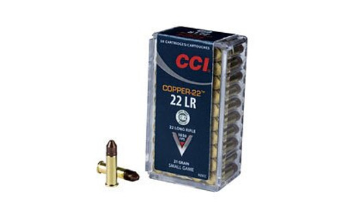 CCI/Speer Copper-22, 22LR HP, 21gr, Copper, Lead Free, 50rd Box