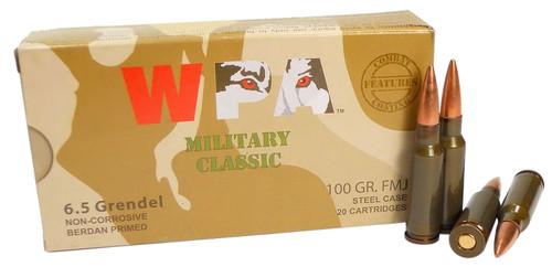 WOLF MC65GRENFMJ MLT 6.5GRN FMJ 100gr, Steel Case, 500rd/Case