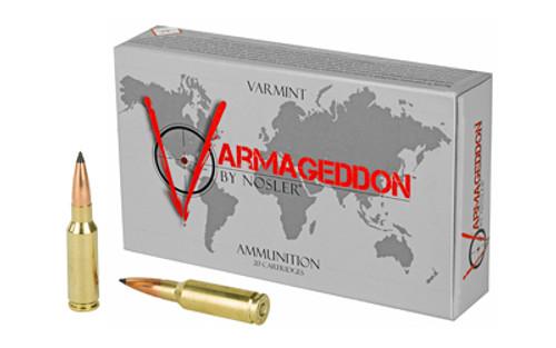 Nosler Varmageddon 6.5mm Grendel 90gr, Flat Base Tip, 20rd Box