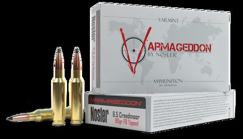 Nosler Varmageddon 6.5 Creedmoor 90gr, Flat Base Tip, 20rd Box