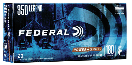 Federal PowerShok, 350 Legend, 180gr, Soft Point, 20rd Box