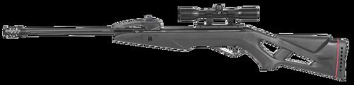 Gamo Swarm Fox, Air Rifle, .177 Pellet, Black, Synthetic Stock, Spring Piston, 4x32 Scope, 10 Round, 1250 Feet per Second