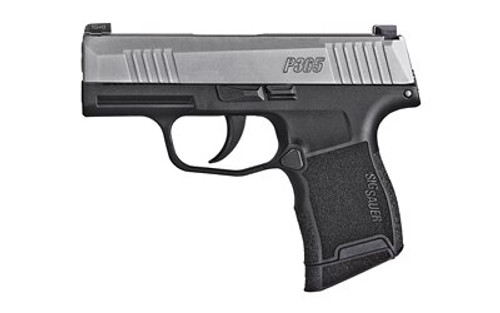 "SIG P365 9mm, 3.1"" Barrel, 2-Tone, Striker, X-Ray 3, Black Grip, 2x10rd Mags"