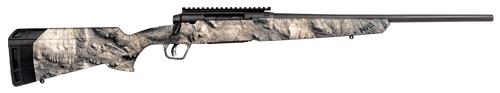 "Savage Axis II 25-06 Rem, 20"" Barrel, Synthetic Mossy Oak Overwatch Stock Gunsmoke Gray PVD, 4rd"