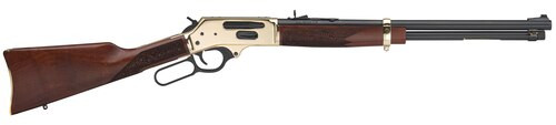 "Henry Side Gate Lever 35 Remington, 20"" Barrel, American Walnut Stock, Brass Receiver, Blued Barrel, 5rd"