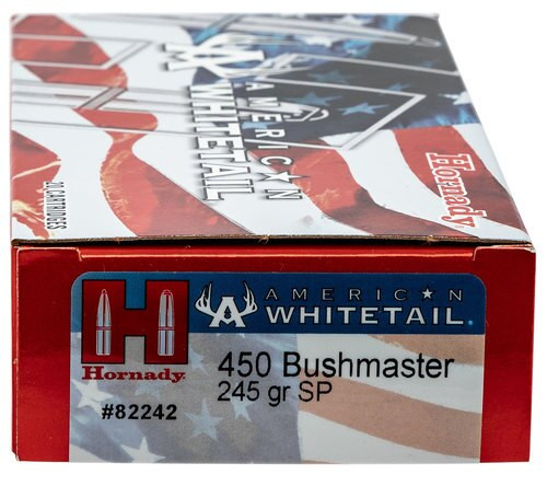 Hornady American Whitetail 450 Bushmaster 245gr, InterLock, 20rd Box