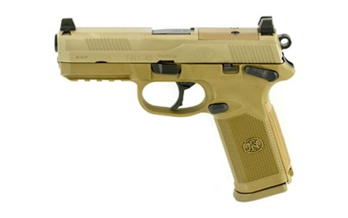 "FN FNX-45 Tactical Flat Dark Earth 45 ACP, 4.5"" Barrel, Night Sights, Fired Case, 3x10rd Mags"