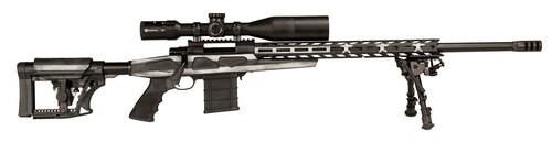 """Howa APC 6mm Creedmoor Scope Combo, 24"""" #6 Threaded Barrel, 4-16x50mm Nikko Stirling Scope, Mag Kit, Hogue Grip, LUTH-AR MBA-4 Stock, Grayscale Flag, 10rd"""