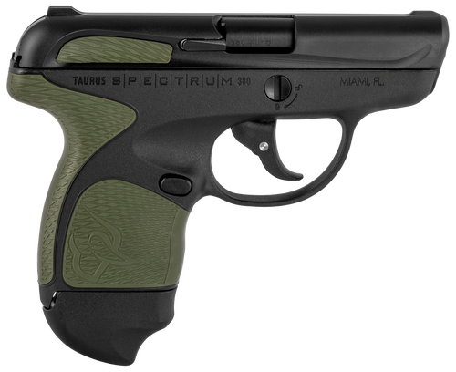"Taurus Spectrum 380 ACP, 2.8"" Barrel, Black, Green Overmold, 6rd"