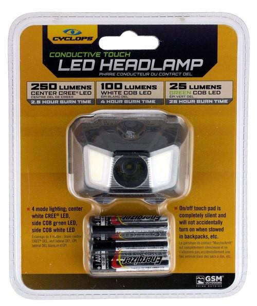 Cyclp Headlamp W Green Cob Led