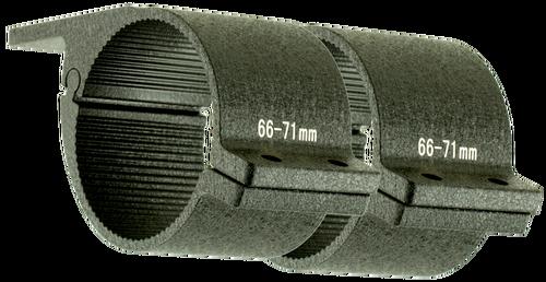 "Cyclops Tube Bar Mount 2.50"" Aluminum Black"