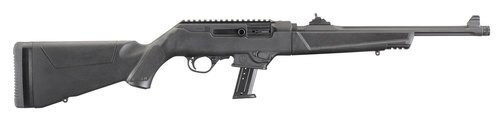 """Ruger PC Carbine 40 S&W, 16.12"""" Threaded Barrel, Synthetic Black Stock Black Hardcoat Anodized, 10rd"""