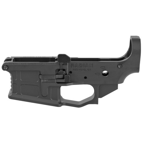 Radian Weapons AX556 Stripped Billet Lower, 223 Rem/5.56mm, Ambidextrous, Black