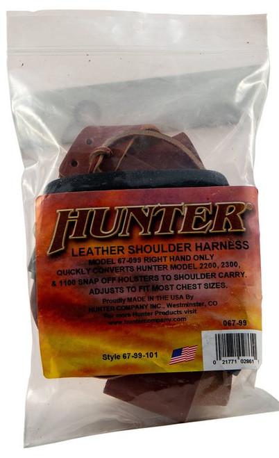 Hunter Shoulder Harness, Leather Brown