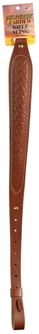 """Hunter Cobra 1"""" Swivel Padded, Leather Brown with Basket Weave"""