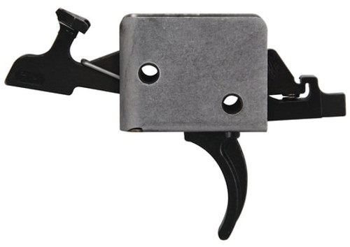 CMC Triggers AR-15/AR-10 Match Grade 2-Stage Trigger Group Large Pin Curved Trigger 1 Pound Set - 3 Pound Release