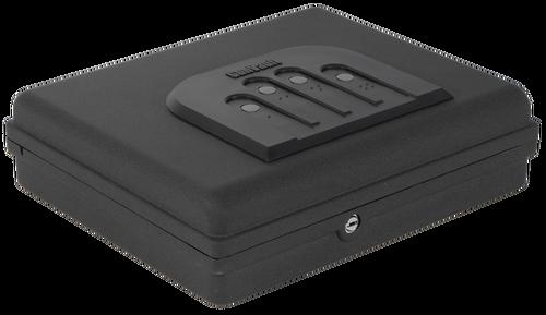 "Gunvault MicroVault XL Personal Safe Mechanical Illuminated Keypad/Key 18 Ga Steel Black 3.54"" x 12"" x 10.25"" (Exterior)"