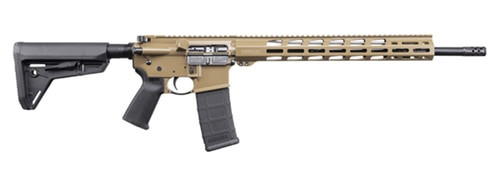 "Ruger AR556 5.56/.223, 18"" Barrel, M-LOK, Davidson's Dark Earth, 30rd"