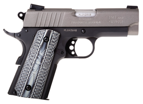 "Taurus 1911 Officer 45 ACP, 3.5"" Barrel, Black, Gray Cerekote Slide, 6rd"