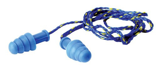 Walkers Corded Foam Ear Plugs 27 dB Blue