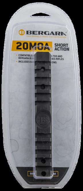 Bergara 20MOA Rail, Fits Remington 700 Short Action, Includes Both 6X48 Screws and 8X40 Screws
