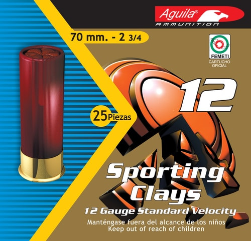 "Aguila Competition High Velocity Sporting Clay 12 Ga, 2.75"", 1-1/8oz, 25rd/Box"