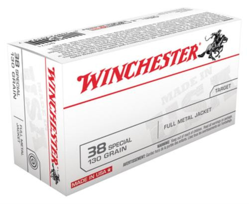Winchester USA .38 Special 130gr, FMJ, 50rd Box