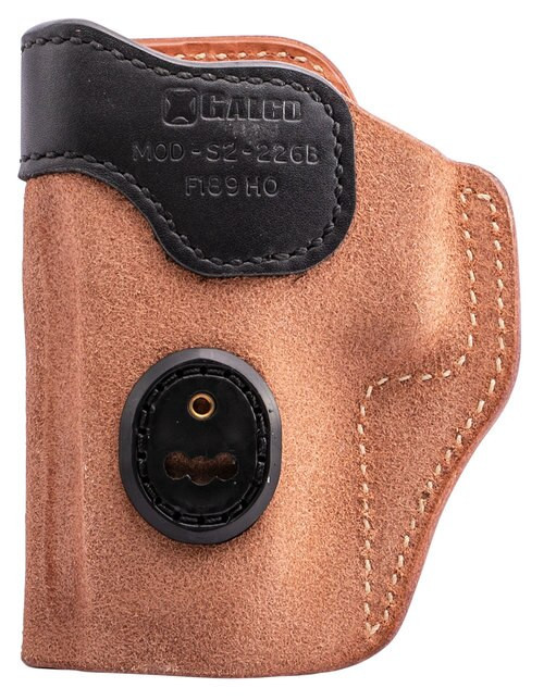 Galco Scout 3.0 Glock 19, Steerhide Natural, Black Mouth Band
