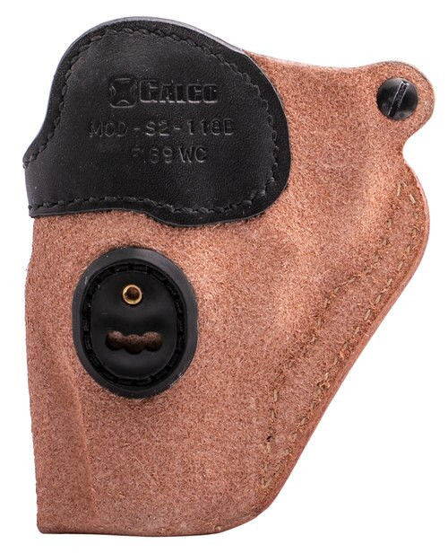 """Galco Scout 3.0 Ruger SP101 2.25"""", Steerhide Natural, Black Mouth Band"""