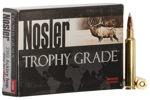 Nosler Trophy 280 Ackley Improved 160gr, AccuBond, 20rd Box