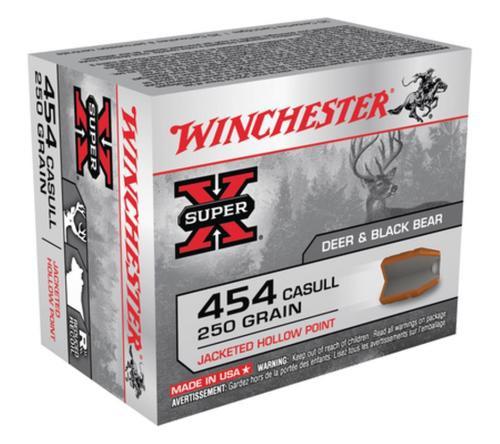 Winchester Super X 454 Casull JHP 250gr, 20Box/10Case