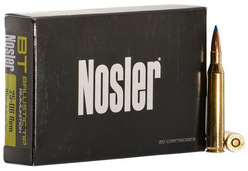 Nosler Ballistic Tip 25-06 Remington 115gr, Ballistic Tip, 20rd Box