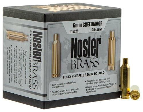 Nosler Brass 6mm Creedmoor 50