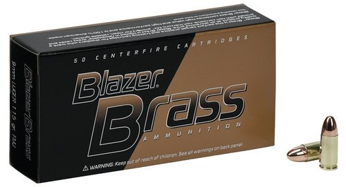 CCI Blazer Brass Ammo 9mm 115gr, Full Metal Jacket, 100rd/Box