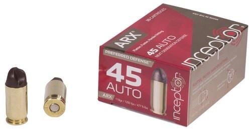Inceptor Preferred Defense 45 ACP 118gr ARX, 20rd Box