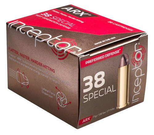 Inceptor Preferred Defense 38 Special 77gr ARX, 20rd Box