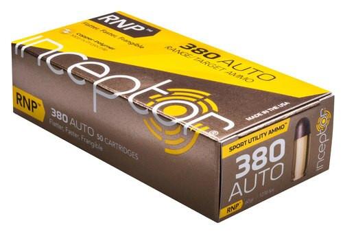 Inceptor Sport Utility 380 ACP 60gr RNP, 50rd Box