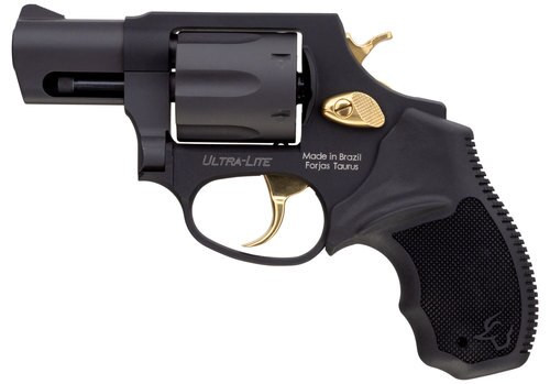 """Taurus 856 38 Special, 2"""" Barrel, Black Rubber Grip Gold Accents, 6rd"""