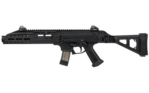 "CZ Scorpion EVO 3 S1 Pistol 9mm, 7.7"" Barrel, Flash Can, Folding Brace, Black,1/2x28 Threads, 10rd Mags"