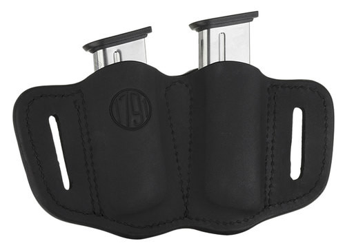 1791 Gunleather Mag-2.1-SBL Double Mag Single Stack Black
