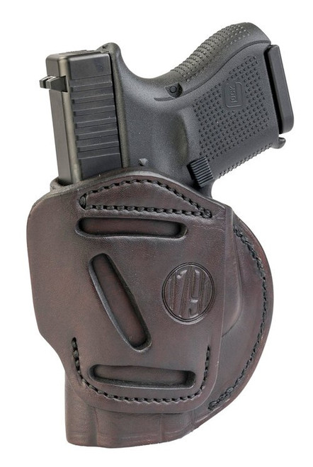 1791 Gunleather 4 Way Glock 26/25/27/29/30/33/48, Ruger LC9/SR9c/SR10/SR22, Sig P225, S&W M&P9/Shield, Walther PPS/CCP/P22 Steerhide, Signature Brown