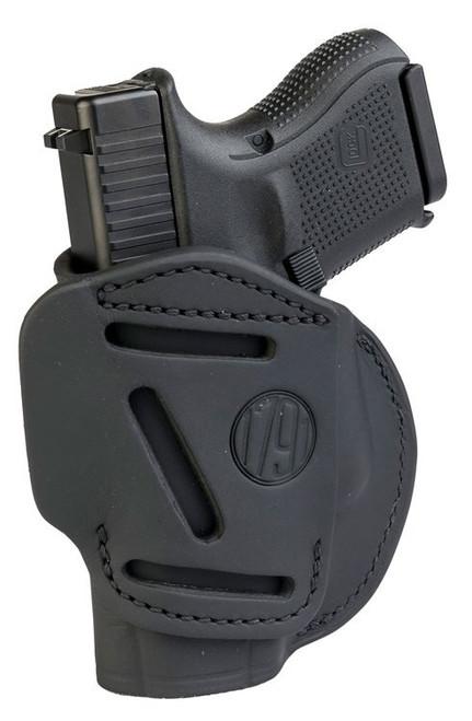 1791 Gunleather 4 Way Glock 26/25/27/29/30/33/48, Ruger LC9/SR9c/SR10/SR22, Sig P225, S&W M&P9/Shield, Walther PPS/CCP/P22 Steerhide, Black
