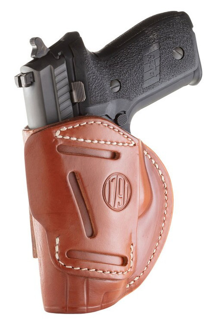 1791 Gunleather 4 Way Beretta 92/M9/Px4 Storm, CZ 75/P10/P07/P01, Glock 17/19/20/21/31/32/38/45 Steerhide, Classic Brown