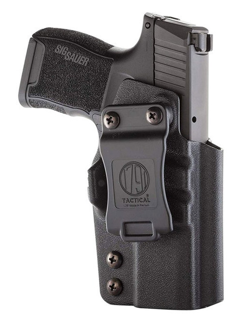 1791 Tactical Kydex, Inside Waistband Holster, Right Hand, Black Kydex, Fits P365