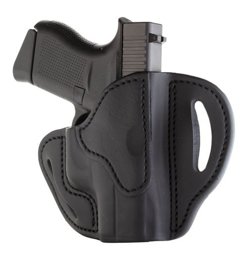 "1791 BHC Belt Holster Compact, OWB, Stealth Black Leather, Fits Glock 42/43/43X, 1911 3"", Right Hand BHC-SBL-R"