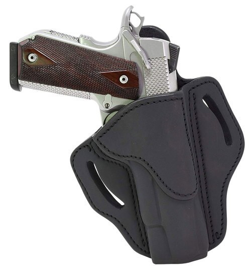 """1791 Belt Holster 1, Right Hand, Stealth Black Leather, Fits 1911 4"""" & 5"""""""