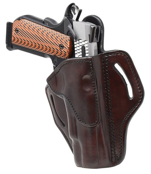 """1791 Belt Holster 1, Right Hand, Signature Brown Leather, Fits 1911 4"""" & 5"""""""
