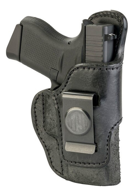 1791 RCH Rigid Concealment Holster, IWB, Black Leather, Fits Glock 42/43/43X, Sig P365, Ruger LC9/SR22, Right Hand, Size 3