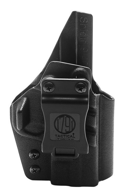 1791 Tactical Kydex, Inside Waistband Holster, Right Hand, Black Kydex, Fits S&W Shield