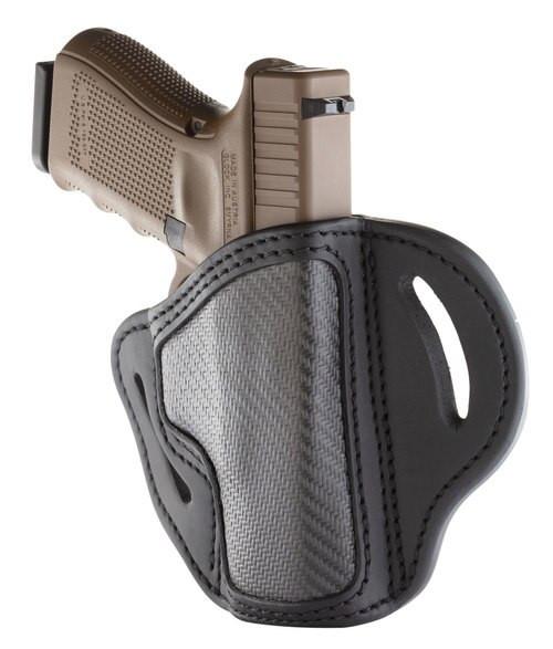 1791 BH2.1 Carbon Fiber Black, Fits 1911 Officer with Rail / Glock 17,19,19x,23,25,26,27,28,29, 30, 32, 33, 45, 48 / FN FNS-9 / Ruger SR9, SR40, SR22 / S&W MP9, MP40, MP40c, Shield, 5903 / Sig P225-A1, P228, P229, P229c , RH